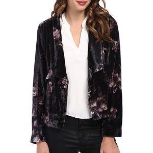 NWOT Chaser English roses velvet kimono blazer